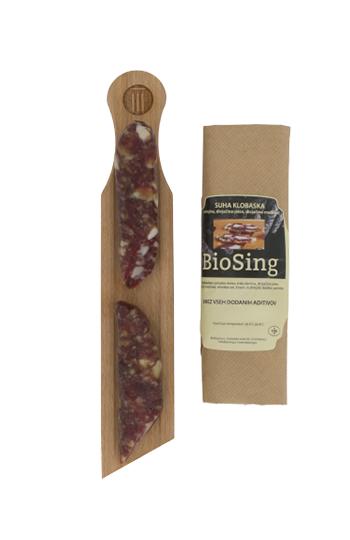 Divjačinska klobasa BioSing cca 120 g